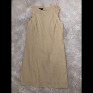 Liz Claiborne sheath dress soft yellow vintage 6